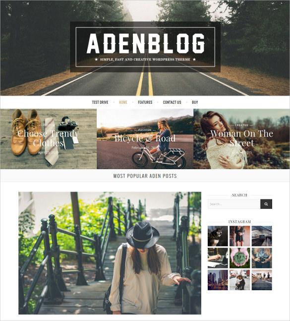 mgaazine responsive wordpress blog theme