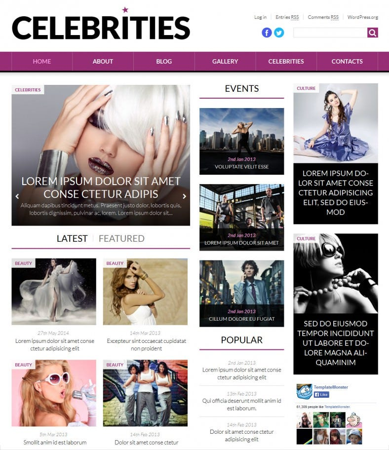 world fashion news portal wordpress bootstrap theme 788x912