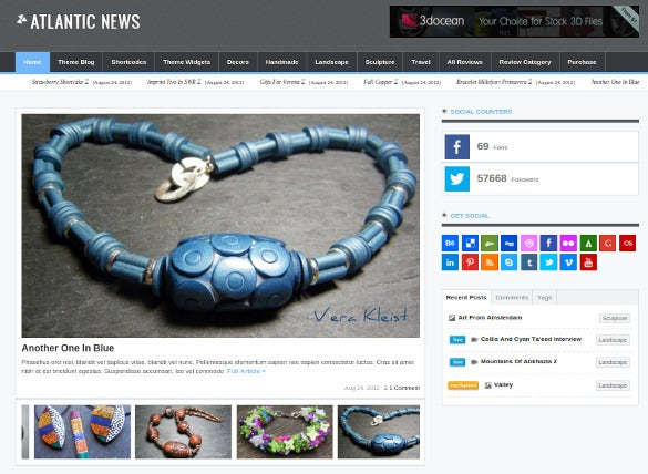 atlantic news responsive wordpress magazine blog