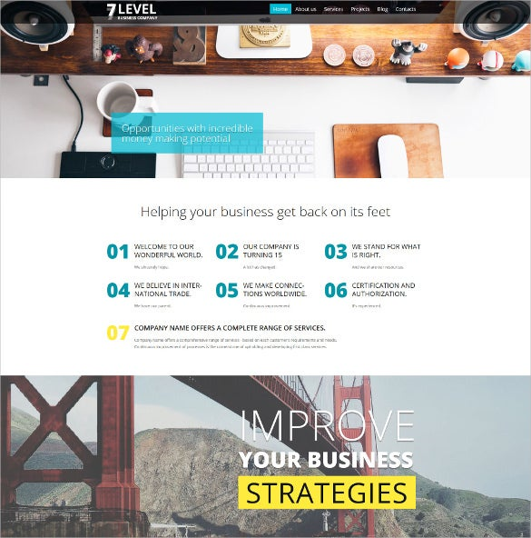 7 level business company wordpress theme