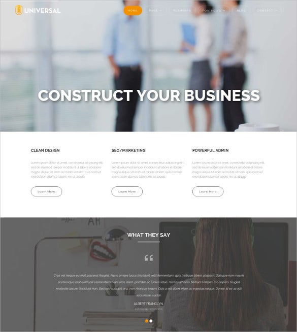 corporate business wordpress template