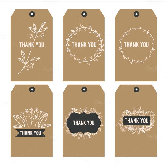 thank you printable tags vector eps format