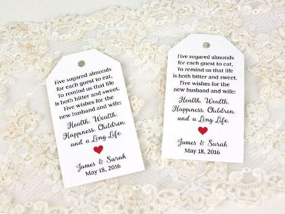 photo relating to Free Printable Wedding Favor Tags referred to as 26+ Choose Tag Templates - PSD, AI Cost-free Quality Templates