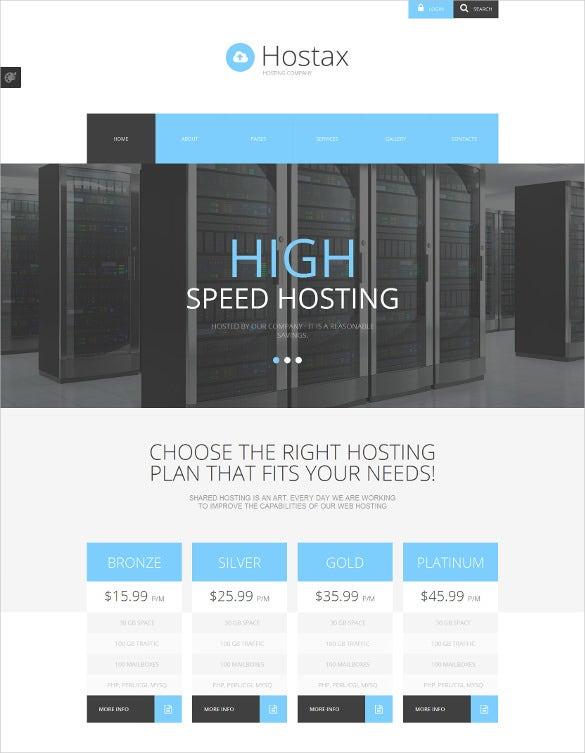 hosting joomla php template