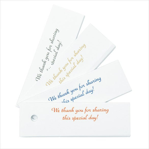 These favour tags are ideal for weddings. These favor tags look best ...