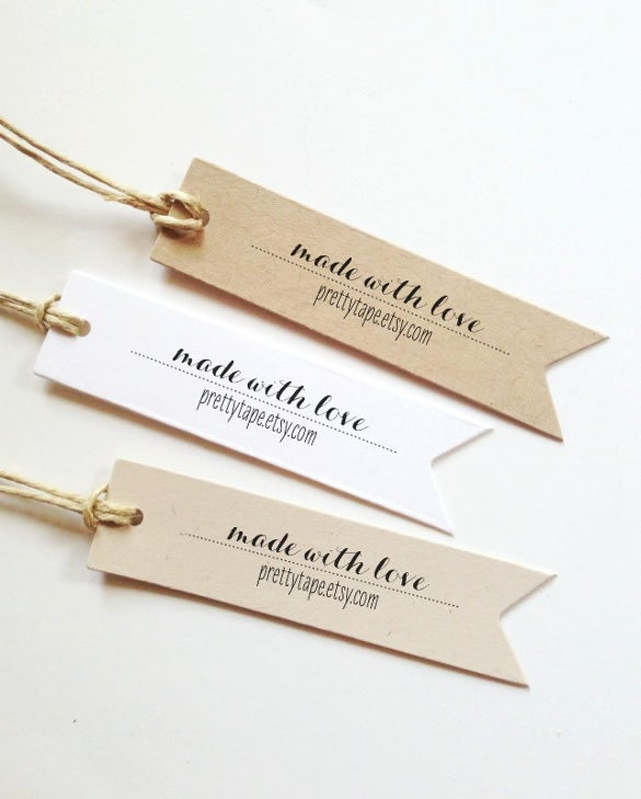 Wedding Gift Bag Label Template : Custom Favour Tag Made With Love Tag