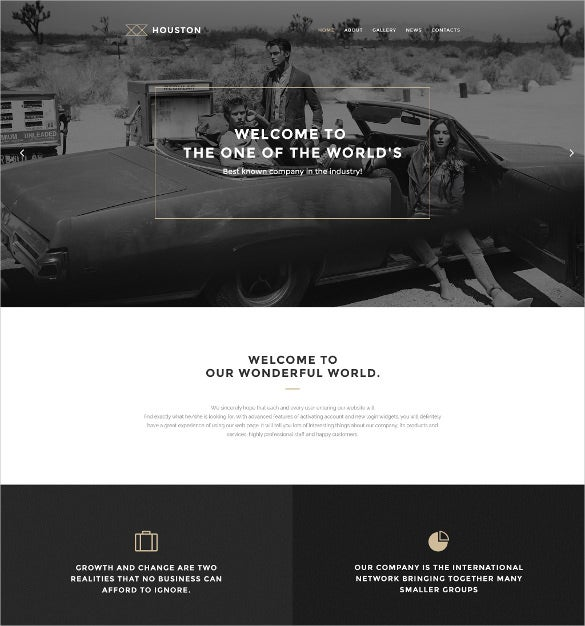 houston minimalist wordpress theme
