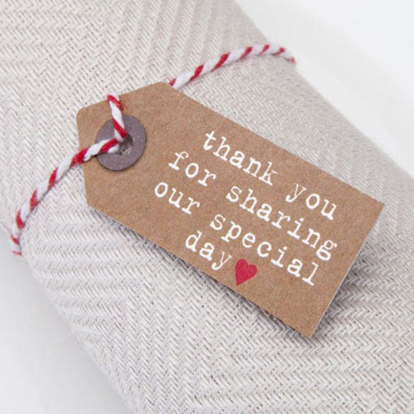 just my type kraft small favour tag
