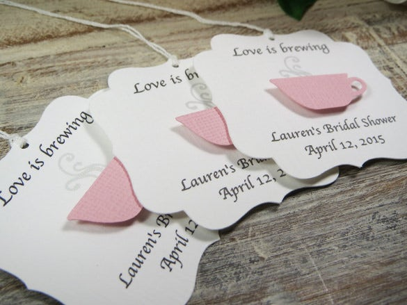 bridal shower favor tags template
