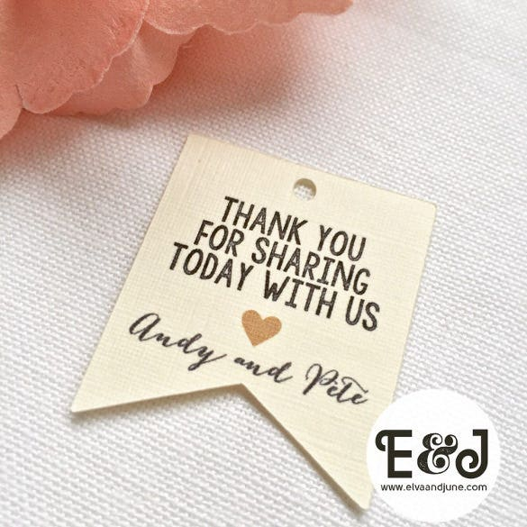 wedding favour tag printable template