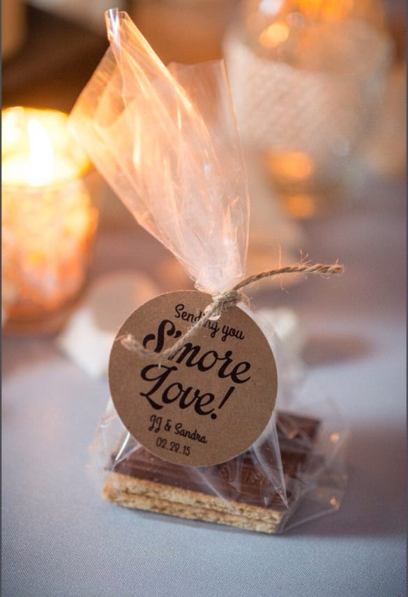 smore wedding favor tag printable template
