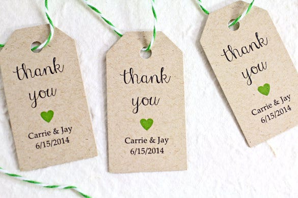personalized kraft paper wedding favor tags
