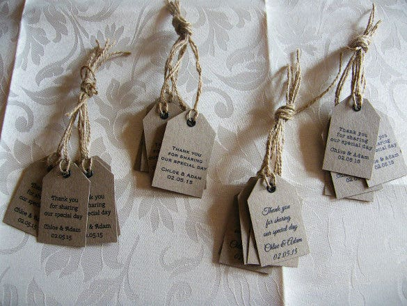 personalised wedding favour tag pack
