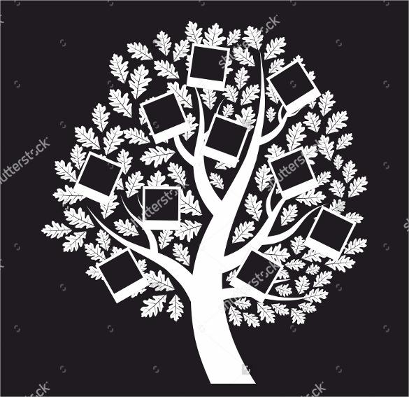 white colour family genealogical tree
