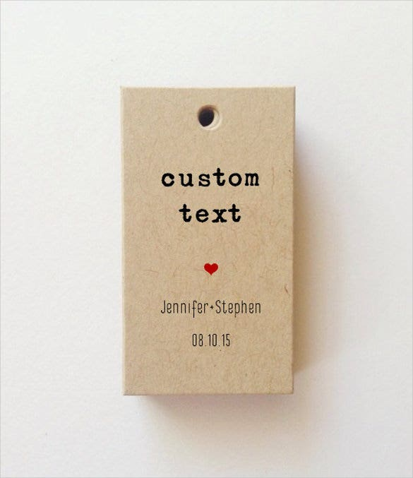mini custom favor tag printable