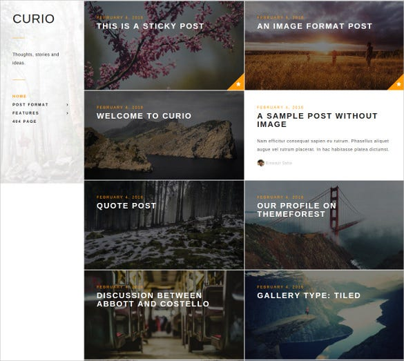 responsive minimalist personal blog theme