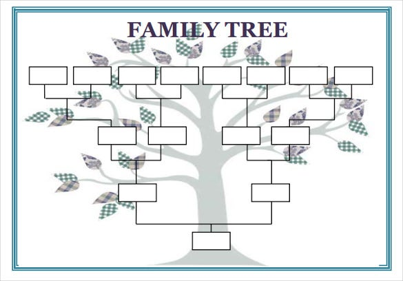 Blank Family Tree Template   Free Word  Documents Download
