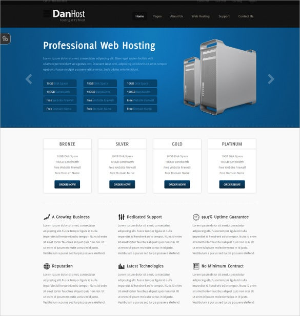 classic hosting php template