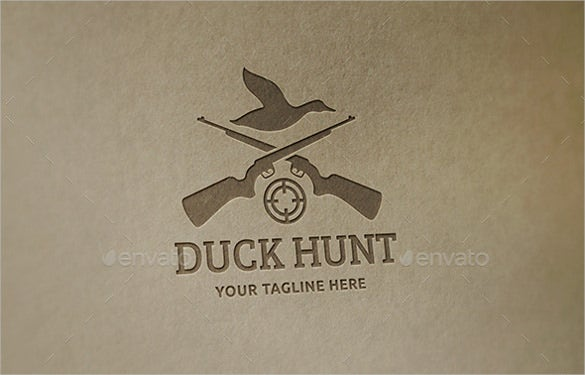 duck hunt logo vector eps