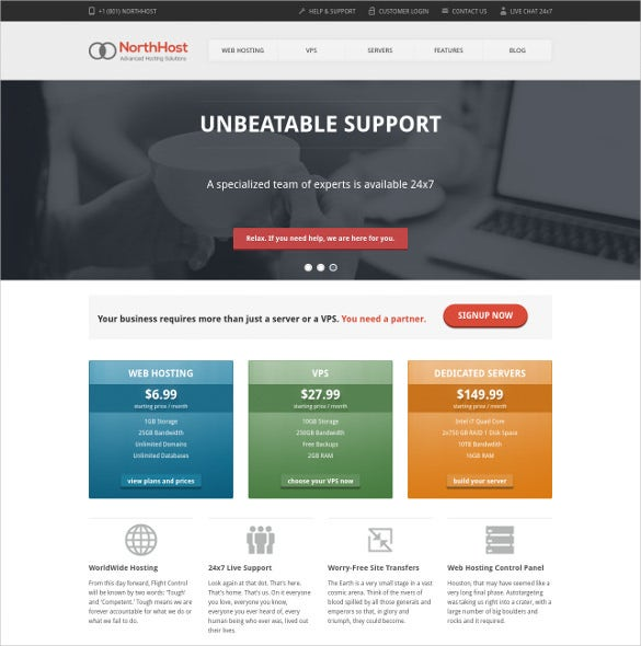 15 hosting php themes templates free premium templates for Sharepoint responsive template