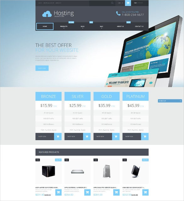 web hosting services php shopify theme