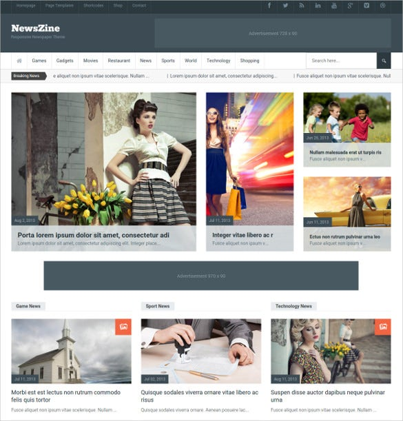 newszine multipurpose magazine directory theme