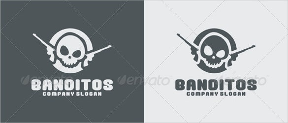 banditos gun logo ai illustrator template