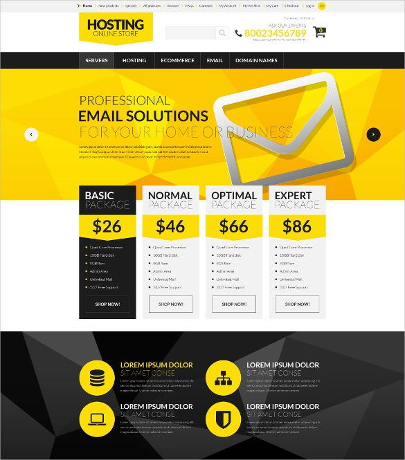 hosting board zencart php template