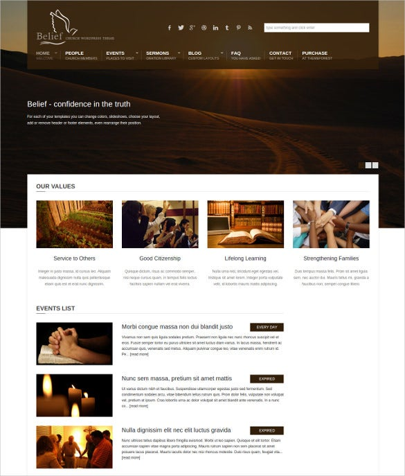 belief non profit wordpress theme