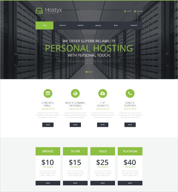 reliable hosting company wordpress php theme