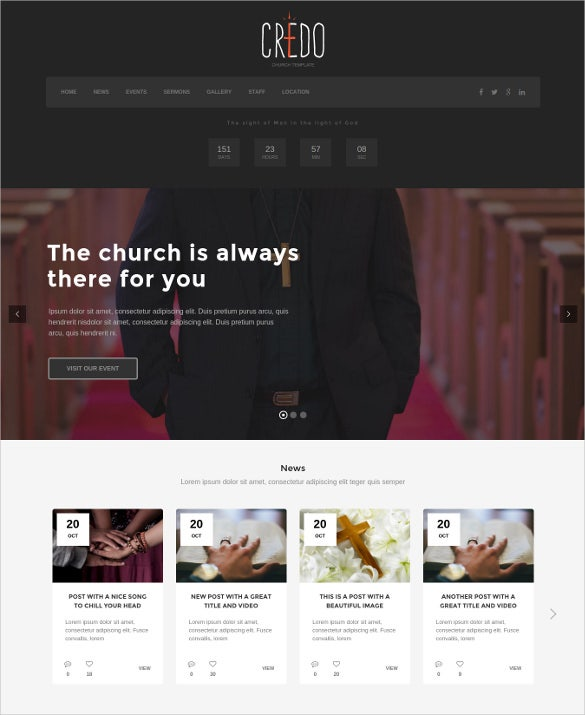 beautiful church event wordpress theme