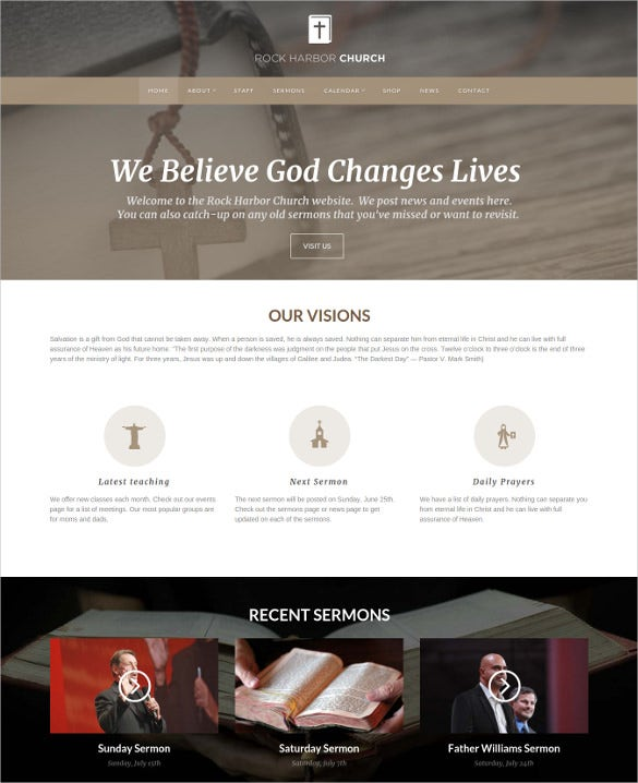 church sermon wordpress template