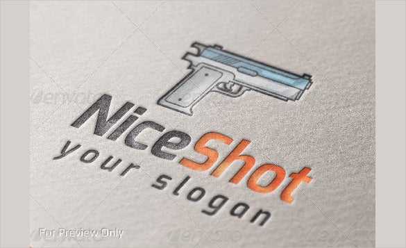 niceshot of gun logo template download