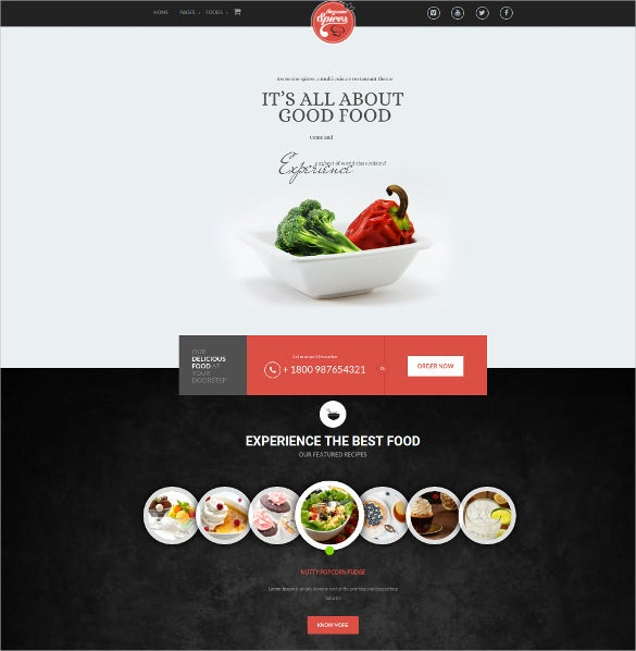 spice restaurant cafe wordpress theme