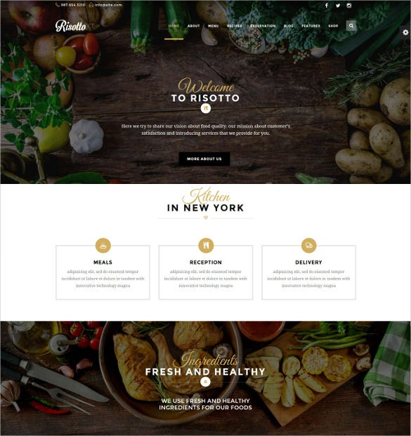premium wordpress restaurant cafe theme
