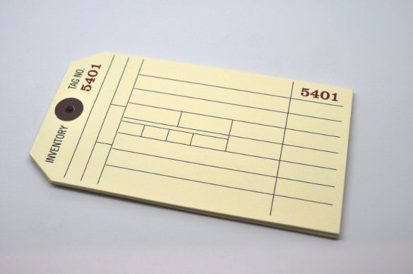 merchandise inventory tag template download