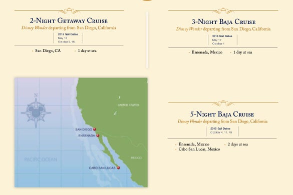 disney cruise itinerary