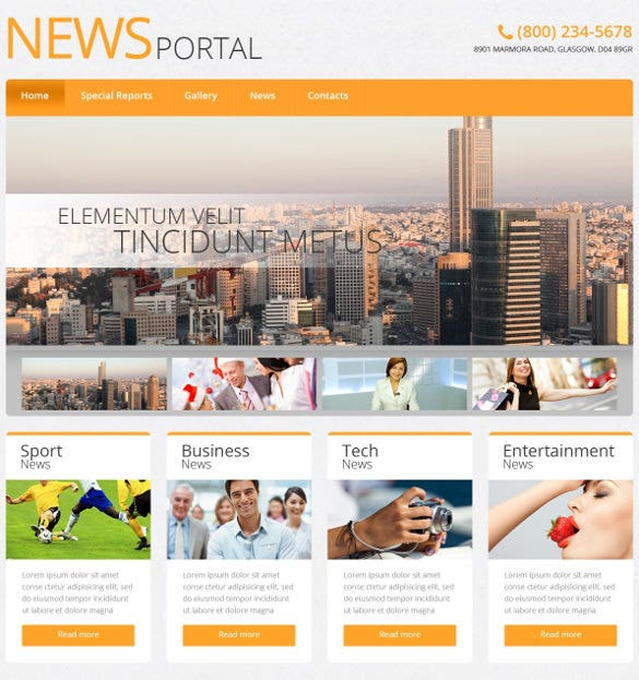 21+ news php themes & templates | free & premium templates, Powerpoint templates