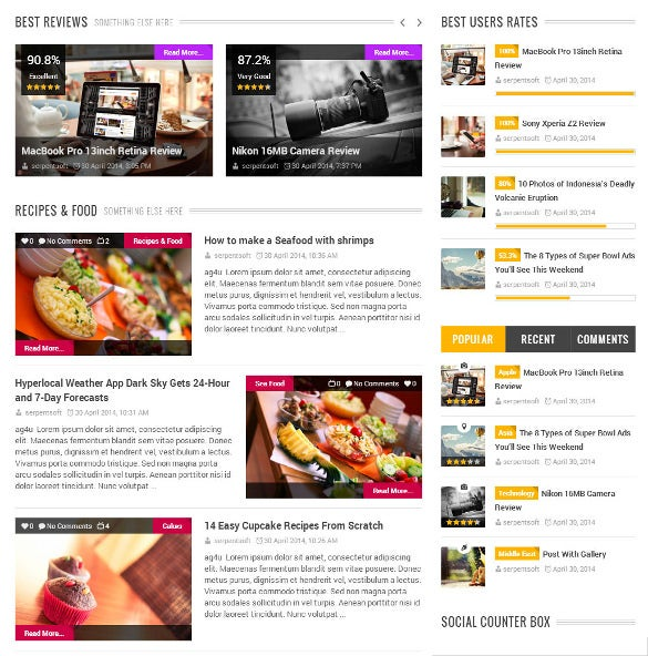 mag for you responsive wordpress php news theme