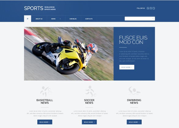 fully editable sports news responsive php wordpress theme