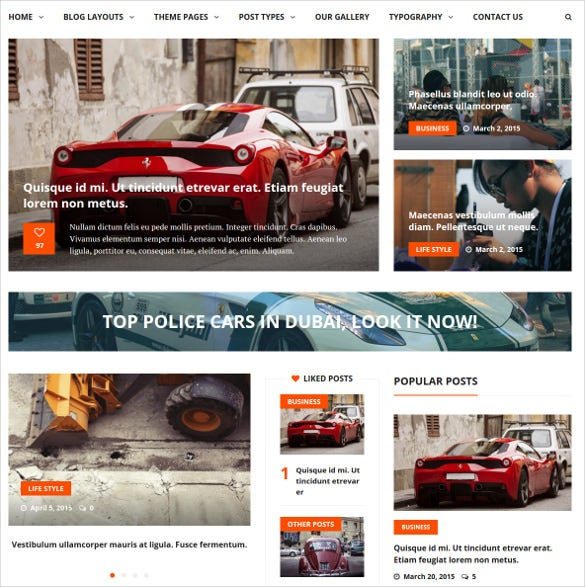 liberty news – magazine php wordpress theme