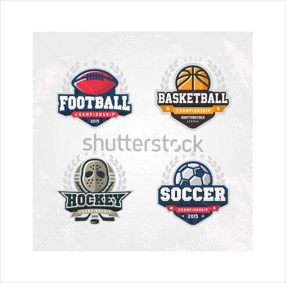 set for four sport logos