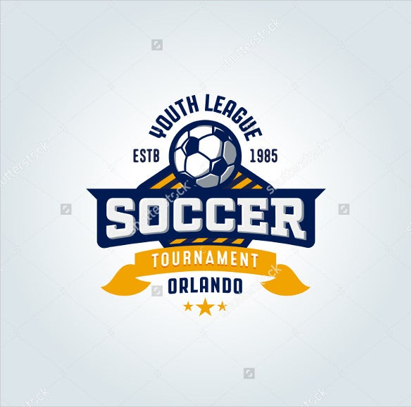 soccer football badge logo design template