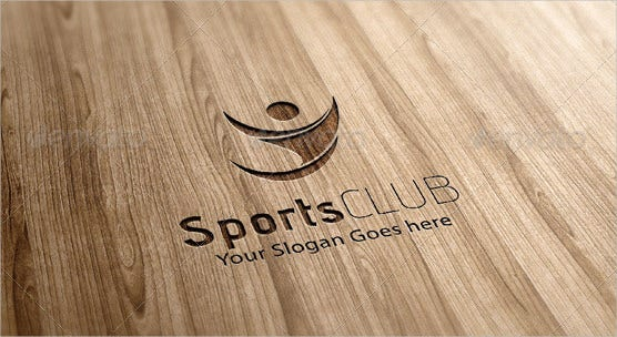 abstract human and sport logo template download