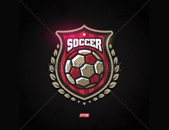 modern vector soccer sport logo template