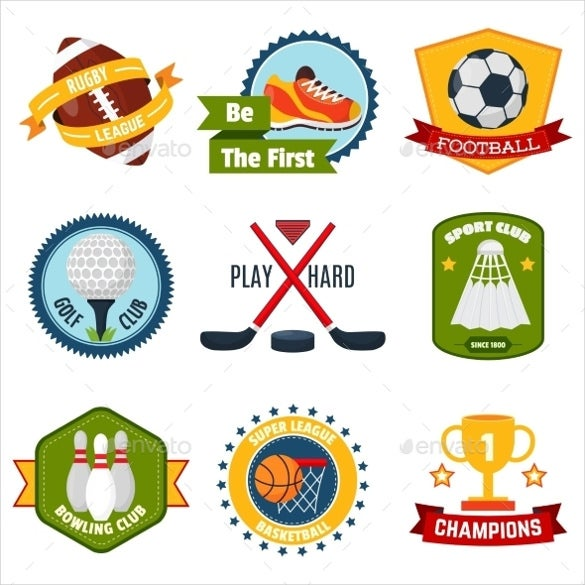 sports logo set vector eps download