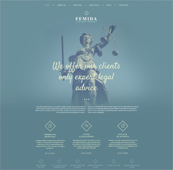 law legal firm responsive moto cms 3 worpress template