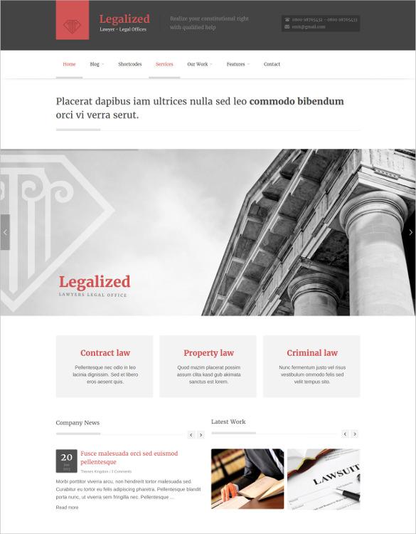 law legalized wordpress theme
