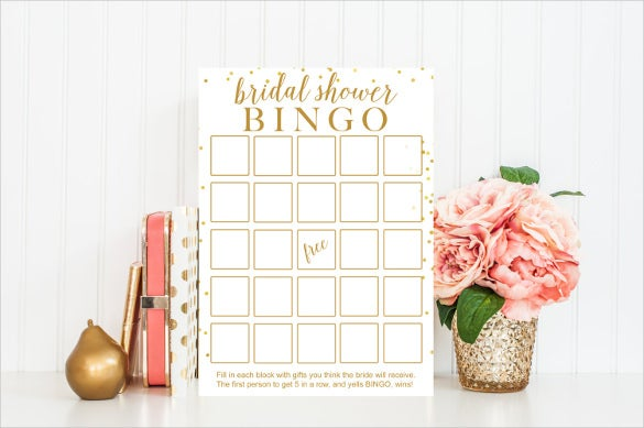 instant download blank bingo printable