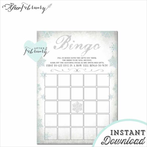 bingo card template word